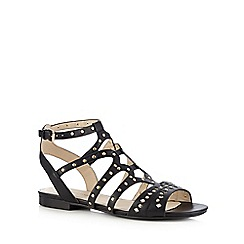 Red Herring - Black studded flat sandals