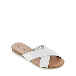 Red Herring - White cross strap sandals