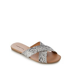 Red Herring - Grey textured snakeskin-effect sandals