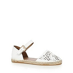 Red Herring - White cut-out espadrille sandals