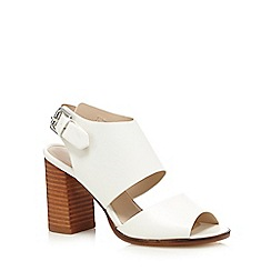 Red Herring - White buckle high sandals