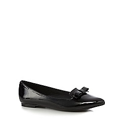 Red Herring - Black patent bow flat shoes