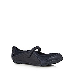 Mantaray - Navy rip tape flat shoes