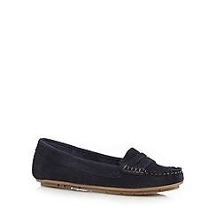 Mantaray - Navy suede loafers