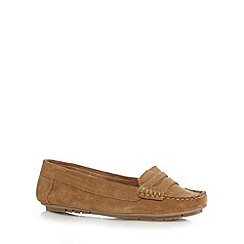 Mantaray - Tan suede loafers