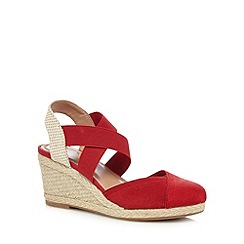 Mantaray - Red wicker high sandals
