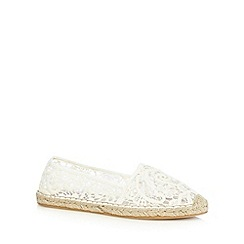 Mantaray - Cream lace espadrilles