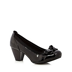 Good for the Sole - Black bow patent wide fit shoes