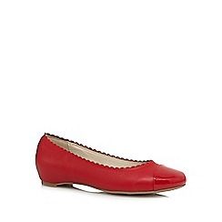 Good for the Sole - Red patent toe cap wide fit slip-on shoes