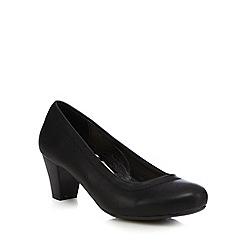 Good for the Sole - Black wide fit court shoes