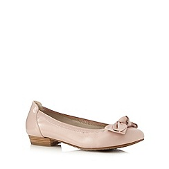 Good for the Sole - Light pink patent bow applique wide fit low slip-on shoes