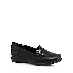 Good for the Sole - Black croc-effect loafer shoes