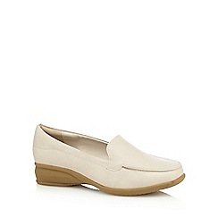 Good for the Sole - Cream wide fit loafer shoes