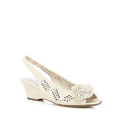 Good for the Sole - Cream 'Gwenda' wide fit peep toe sandals
