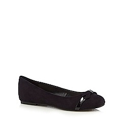 Good for the Sole - Black bow applique wide fit slip-on shoes
