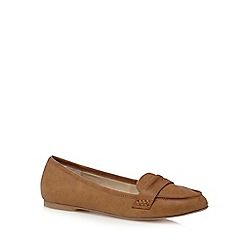 The Collection - Tan 'Chanelle' tab flat shoes