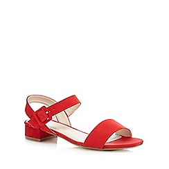 The Collection - Red buckle low sandals