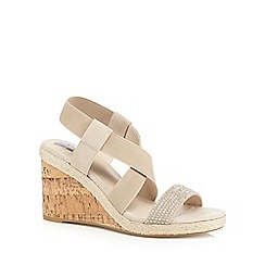 The Collection - Beige wedge heel sandals