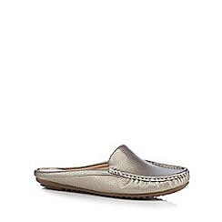 The Collection - Metallic gold slip-on shoes