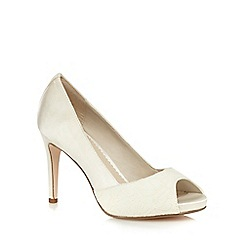 Debut - Ivory peep toe high court shoes