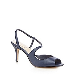 Debut - Navy open toe mid sandals