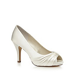 Debut - Ivory peep toe wide fit heels