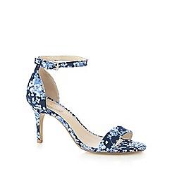 Debut - Blue floral print high sandals