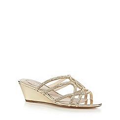 Debut - Gold 'Dee' sandals