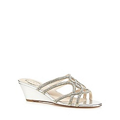 Debut - Silver 'Dee' mid sandals