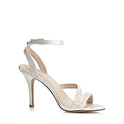 Debut - Ivory 'Delilah' high stiletto heel ankle strap sandals