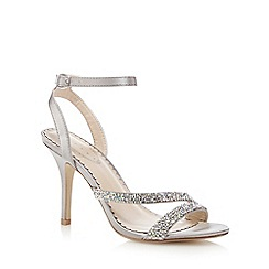 Debut - Metallic high stiletto heel ankle strap sandals