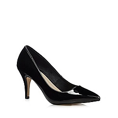 Red Herring - Black pointed wide fit high court shoes