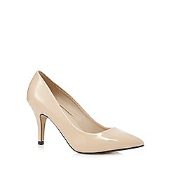 Red Herring - Nude pointed wide fit high court shoes