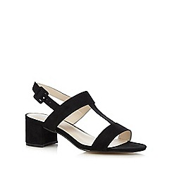 Red Herring - Black t-bar wide fit low sandals