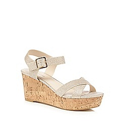 Red Herring - Gold cross over strap sandals