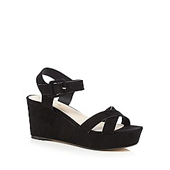 Red Herring - Black cross over strap sandals