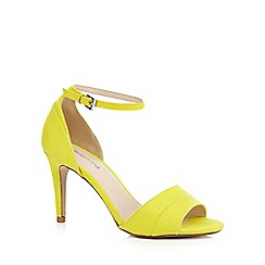 Red Herring - Lime textured high heeled sandals