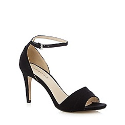 Red Herring - Black textured high heeled sandals
