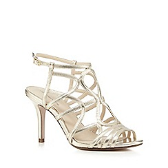 Red Herring - Gold suedette strappy high sandals
