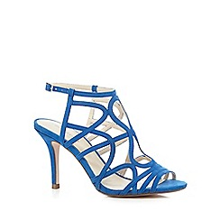 Red Herring - Blue suedette strappy high sandals