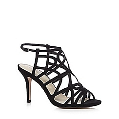 Red Herring - Black suedette strappy high sandals