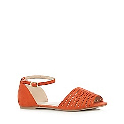 Red Herring - Orange suedette cut-out sandals