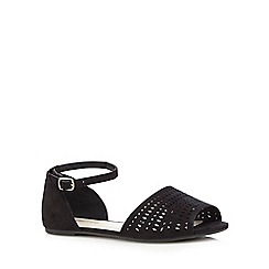 Red Herring - Black suedette cut-out sandals