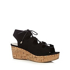 Red Herring - Black 'Ghillie' sandals