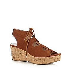 Red Herring - Tan 'Ghillie' sandals