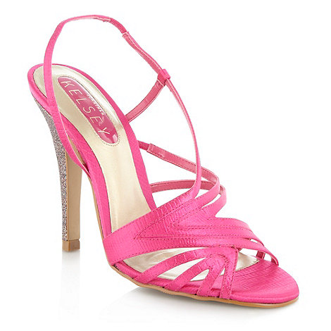 null - Pink satin strapped sandals