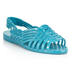 H! by Henry Holland - Dark turquoise cross over strap sandals