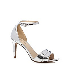 Red Herring - Silver patent peep toe high sandals