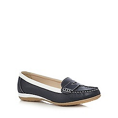 Good for the Sole - Navy slip on shoes