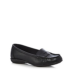 Good for the Sole - Black wide fit slip on shoes